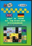 Nyelvi puzzle angol és német szó-kép kirakó játék