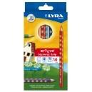 Színes ceruza Lyra Groove Natural vastag , 10 klt., háromszög