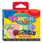 Colorino FLUORESZKÁKÓ 6db-os színes gyurmakészlet Glow