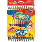 Colorino Kids JUMBO trio kétvégû 12/24 színesceruzakészlet