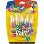 Colorino 5db-os ecsetvégű tubusos temperakészlet GLITTER METAL színek