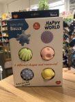 Érzékelésfejlesztő labda 6 darabos készlet