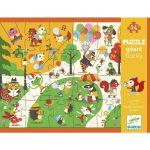 Simogatós óriás puzzle - Téren  24 db-os - Flocky puzzle