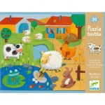 Simogatós óriás puzzle - Tanya, 20+8 db-os - Tactile farm puzzle