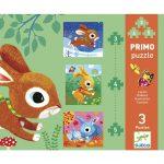 Primo puzzle - Nyuszik -  3, 4, 5 részes kirakó
