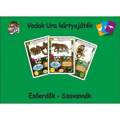 Vadak Ura kártyajáték  -  Esőerdők, szavannák