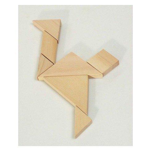 Logikai kirakó - Tangram vászon tasakban