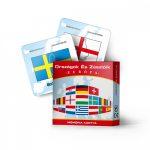 Memóriakártya : Európai országok zászlói