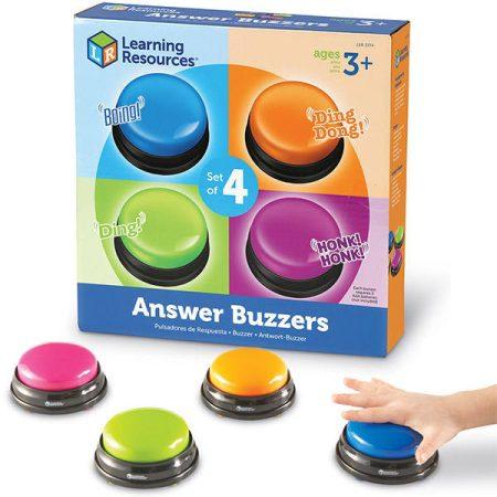Kérdezz-felelek csengő  -  Csengő készlet - 4 féle hangot adó csengővel