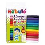 Gyurma Nebuló színes 12 darabos 200g