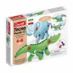 Tecno Puzzle 3D Elefánt és Krokodil