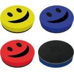 Smile mágneses táblatörlő szivacs, 9 cm